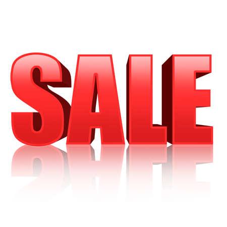 sales floor: 3d red text SALE