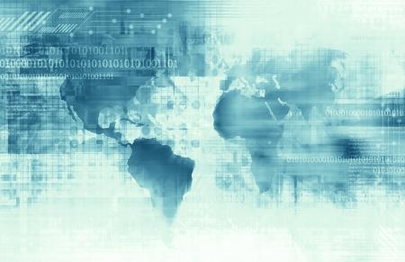 Business and Technology background Standard-Bild