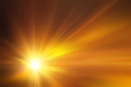 lightrays: Illustration of a burning sun, or star and beautiful rays