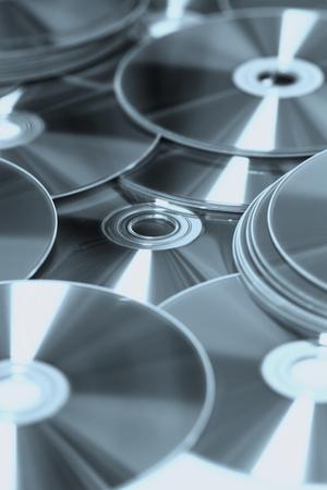 dvds: set of DVDs scattered