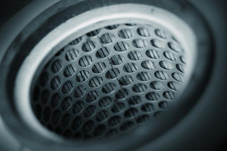 airflow: close up air intake filter