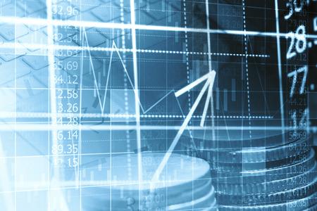 Finance gegevensconcept Stockfoto