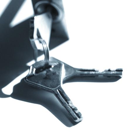 hinged: padlock with keys