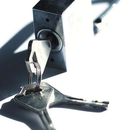 padlock with keys  photo