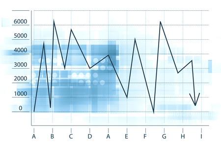 market crash:  Arrow Graph Going Down