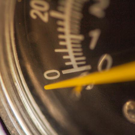 barometer: Closeup of a pressure meter on a machine
