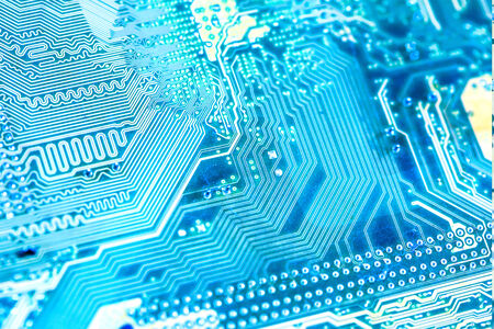 circuitry: close-up of electronic circuit board