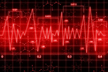 heart ecg trace: Cardiac Frequency Stock Photo