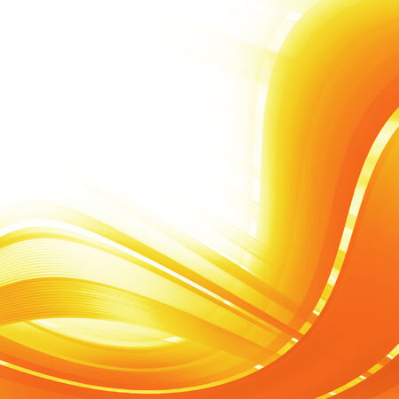 sharp curve: Orange and yellow background of abstract warm curves Stock Photo
