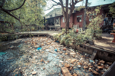 waters: A large amount of trash polluting our waters
