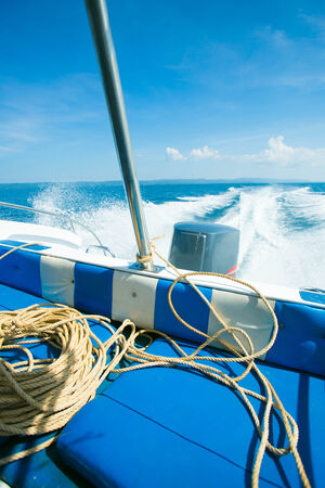Tail of the sea from the speed boat photo