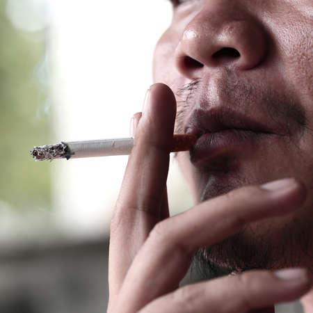 smoking cigarette photo