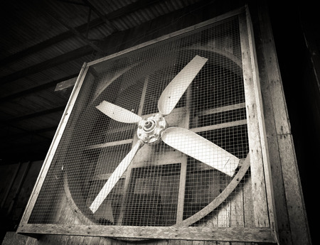 extractor: Old dirty ventilation fan Stock Photo