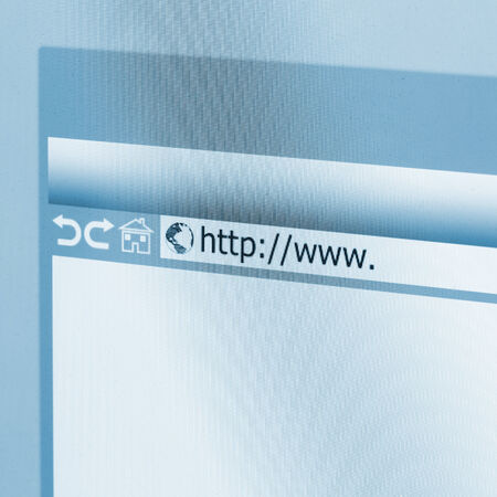 web address: Closeup of Computer Screen With Address Bar of Browser