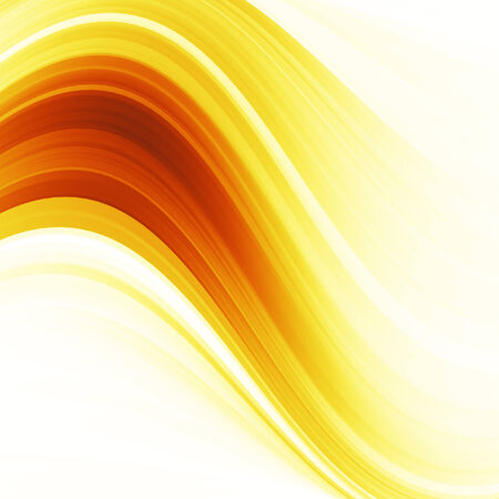 Orange and yellow background of abstract warm curves Stock Photo