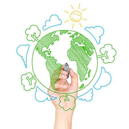 Green World Drawing Concept Stock Photo Picture And Royalty Free