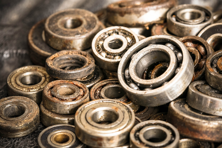 corrosion: old rusty ball bearing Stock Photo