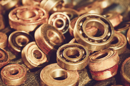 rags: old rusty ball bearing Stock Photo