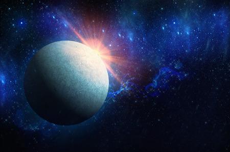 planet, space, made, sunlight, sunbeam, nobody, milky, earth, cloud, sunrise, horizon, star, night, astronomy, light, morning, digital, stratosphere, layer, moon, black, galaxy, dark, heaven, science, good, sky, dawn, nature, prerequisite, land, constella