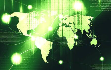 net trade: Map technology light design