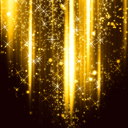 particles: Golden holiday background with shiny particles and lights