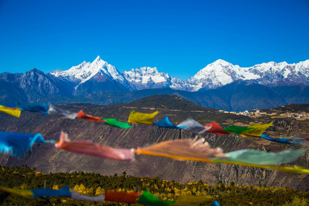 Mount Shishapangma in the summer of Tibet, China