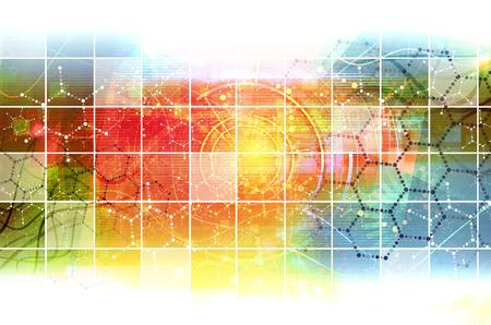 Science Research als een concept voor de presentatie Stockfoto - 34803426