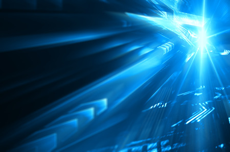 light speed: Digital  background image with technology