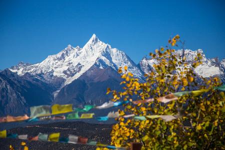 jokul: Mount Shishapangma in the summer of Tibet, China