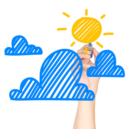 sun & cloud cartoon photo