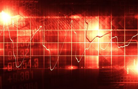 financial concept: stock market display abstract Stock Photo