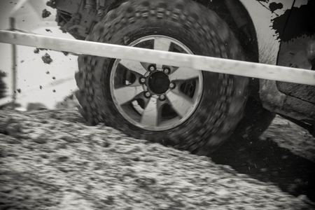 four wheel drive: Motion blurred of off road