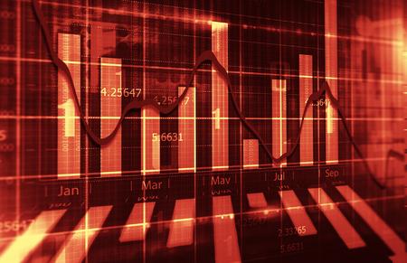 stock chart: Stock Market Chart Stock Photo