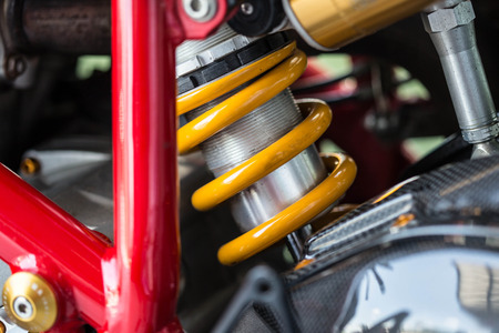 absorber: Shock Absorbers motorcycle Stock Photo