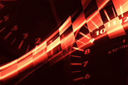 velocímetro: Racing de fondo