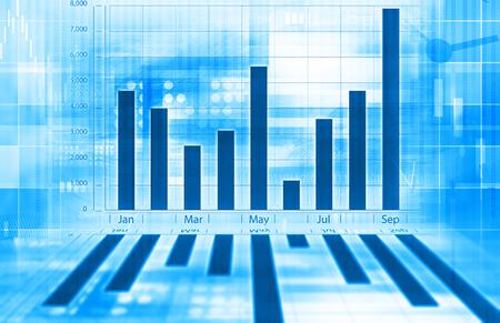 economical: Economical graph Stock Photo