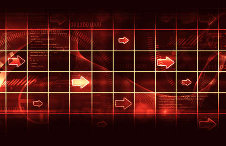technology abstract background: Abstract arrows technology background