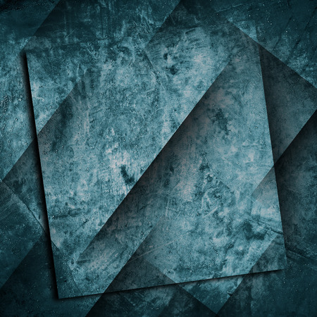 old square: Blue grunge texture Stock Photo