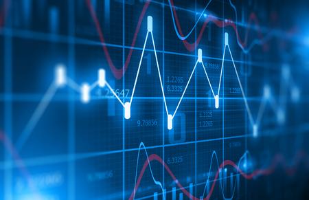 Stock Market Chart  Background Archivio Fotografico