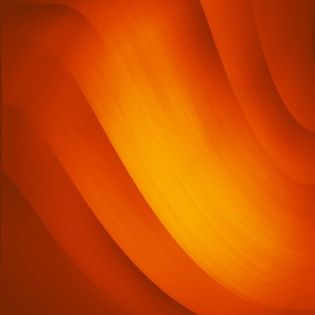 futurist: Orange and yellow background of abstract warm curves Stock Photo