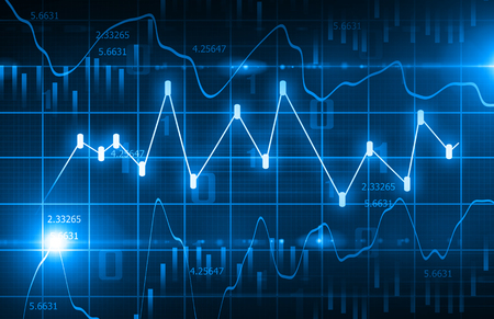 Stock Market Chart  Background Foto de archivo