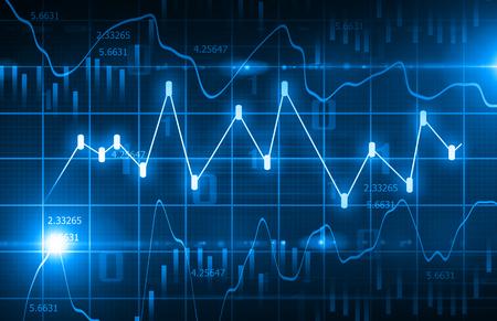 Hintergrund Börsen-Chart Standard-Bild - 53725393