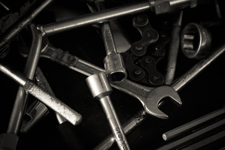 fix jaw: Spanner Tools Piled on workshop