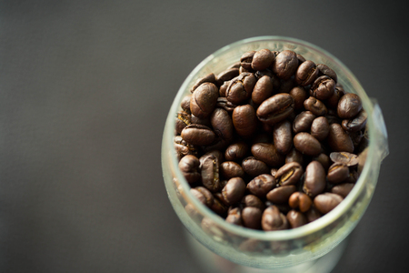 shooter drink: glass with coffee bean Stock Photo