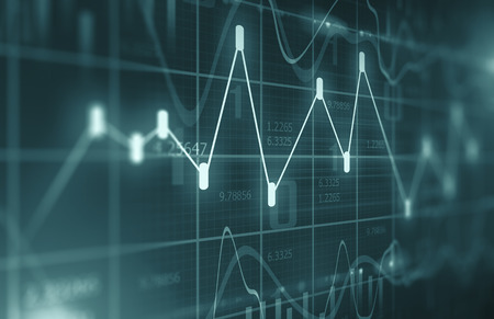 Stock Market Chart  Background Standard-Bild