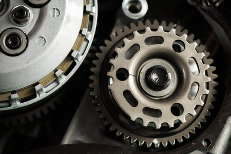 mechanism: metal gears background
