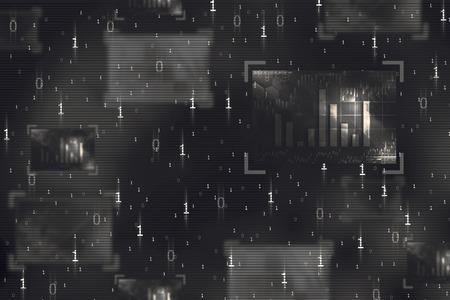 codigo binario: resumen de c�digo binario en la pantalla digital