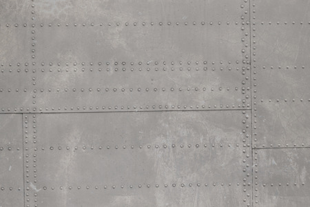 riveted: riveted metal from aircraft