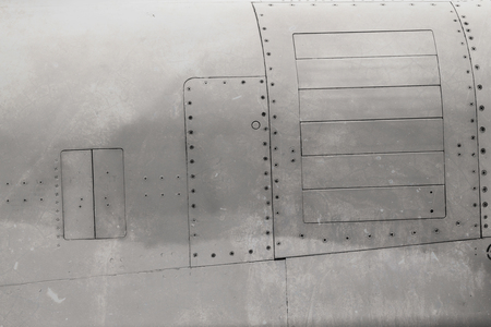 riveted metal: riveted metal from aircraft
