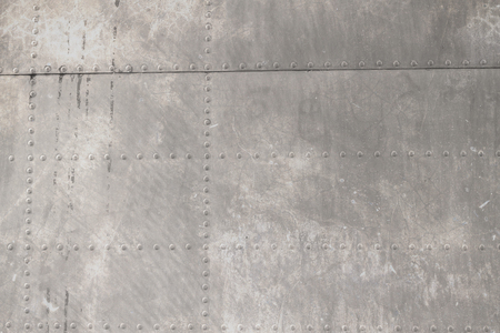 Remachado metal de los aviones  Foto de archivo